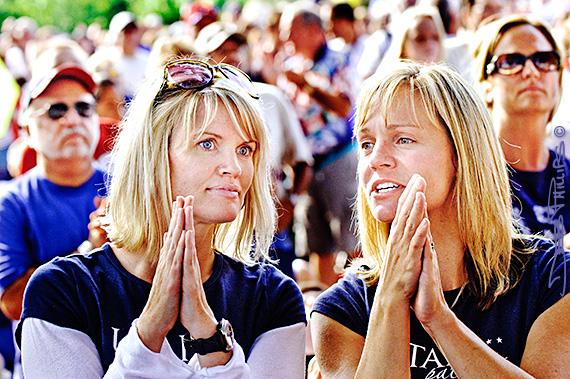 Young ladies at Glenn Beck's Restoring Honor Rally, Washington, DC - 8/28/10