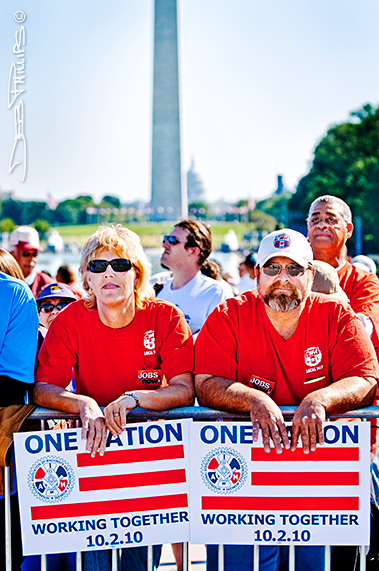 Attendees at the One Nation Working Together Rally on 10-2-2010