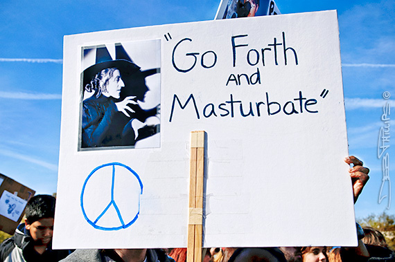 Vulgar sign at the Rally to Restore Sanity and/or Fear in Washington, D.C.