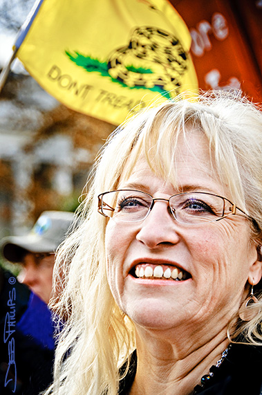 Woman at the November Speaks Rally in Washington, DC on November 15, 2010