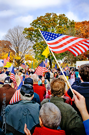 Americans at the November Speaks Rally in Washington, DC on November 15, 2010 - Sponsored by Americans for Prosperity