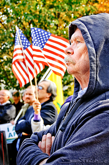 Man at the November Speaks Rally in Washington, DC on November 15, 2010