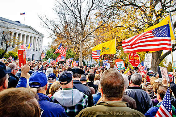 Spirited crowd at the November Speaks Rally in Washington, DC on November 15, 2010