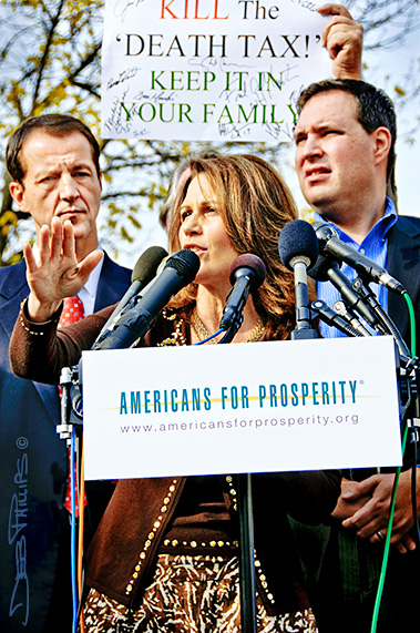 Michele Bachmann speaks to the November Speaks Rally.