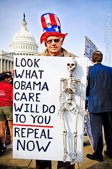 "Sign: ""Look What Obama Care Will do to You"" at the November Speaks Rally"