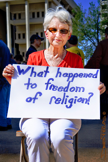 Stand Up for Religious Freedom Rally - Winston-Salem, NC - March 23, 2012 - Deb Phillips, Photographer