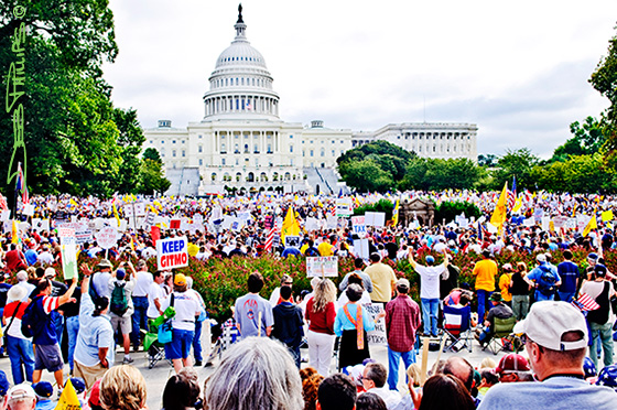 Crowd at the Capitol for the DC Tea Party event.