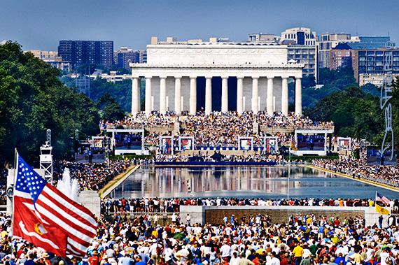 Restoring Honor Rally at the Lincoln Memorial, Washington, DC - 8/28/10