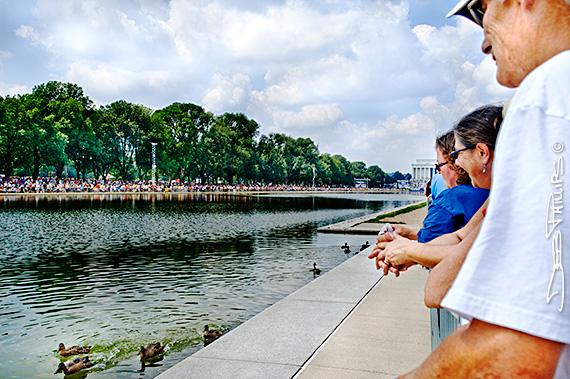 View from the Reflecting Pool at Glenn Beck's Restoring Honor Rally, Washington, DC - 8/28/10