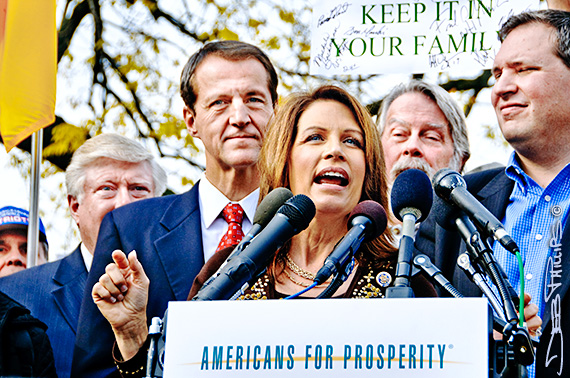 Michele Bachmann addresses the November Speaks Rally.